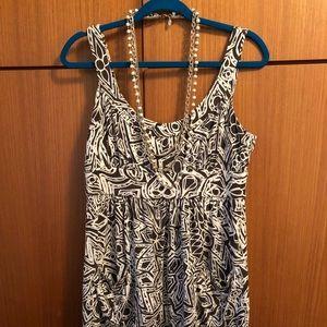 DVF Size 12 100% Silk Mini Dress/Tunic